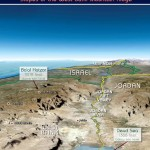 Israel's Defense Line: The Jordan Rift Valley with the Steep Eastern Slopes of the West Bank Mountain Ridge