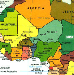 Map Of Sahel And Central Africa Map Of Africa