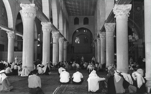 Praying at the Al-Aksa Mosque, July 1967. Worship there was immediately renewed with the end of the Six-Day War. (Fritz Cohen, Government Press Office)
