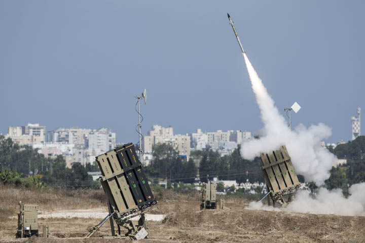 Israel and the Gaza Strip: Why Economic Sanctions Are Not Collective Punishment A missile is launched by an Iron Dome battery, a short-range missile defense system designed to intercept and destroy incoming rockets and artillery shells. (Ilia Yefimovich/Getty Images/AFP)