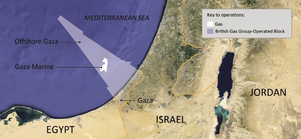 Israel and the Gaza Strip: Why Economic Sanctions Are Not Collective Punishment Map of Gazan offshore gas deposits, discovered February 2014.