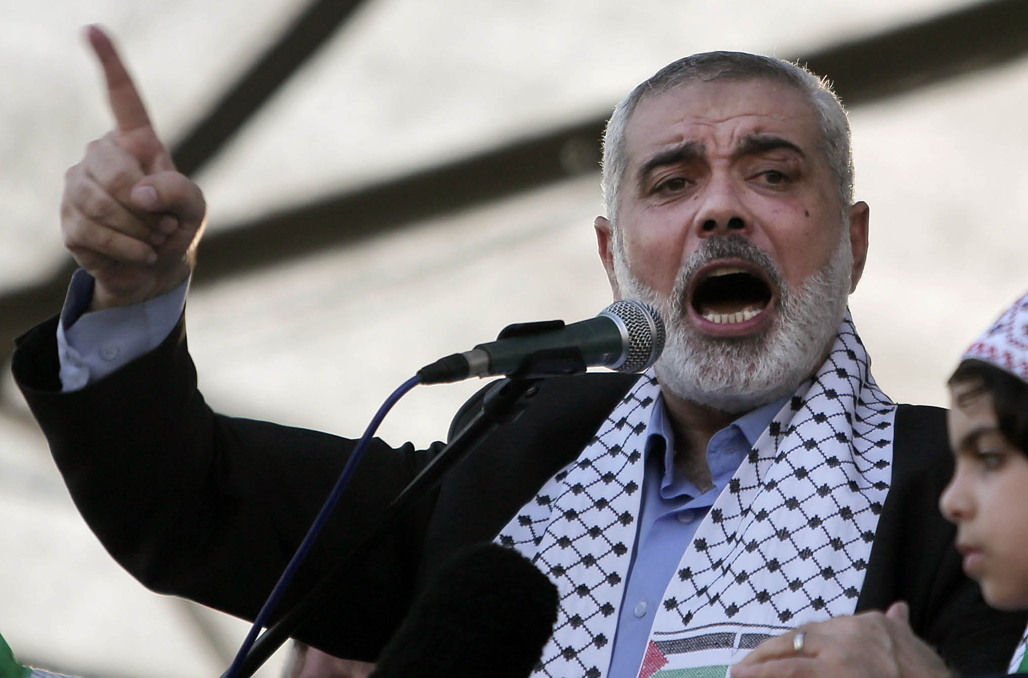 Israel and the Gaza Strip: Why Economic Sanctions Are Not Collective Punishment Ismail Haniyeh, the prime minister of Hamas. (AP/Khalil Hamra)