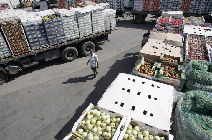 Israel and the Gaza Strip: Why Economic Sanctions Are Not Collective Punishment Israeli shipments of fruit into Gaza. (Reuters)