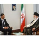 Syrian President Bashar Assad meeting with Iran's Supreme Leader Sayyid Ali Khamenei