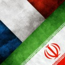 Iran France flags