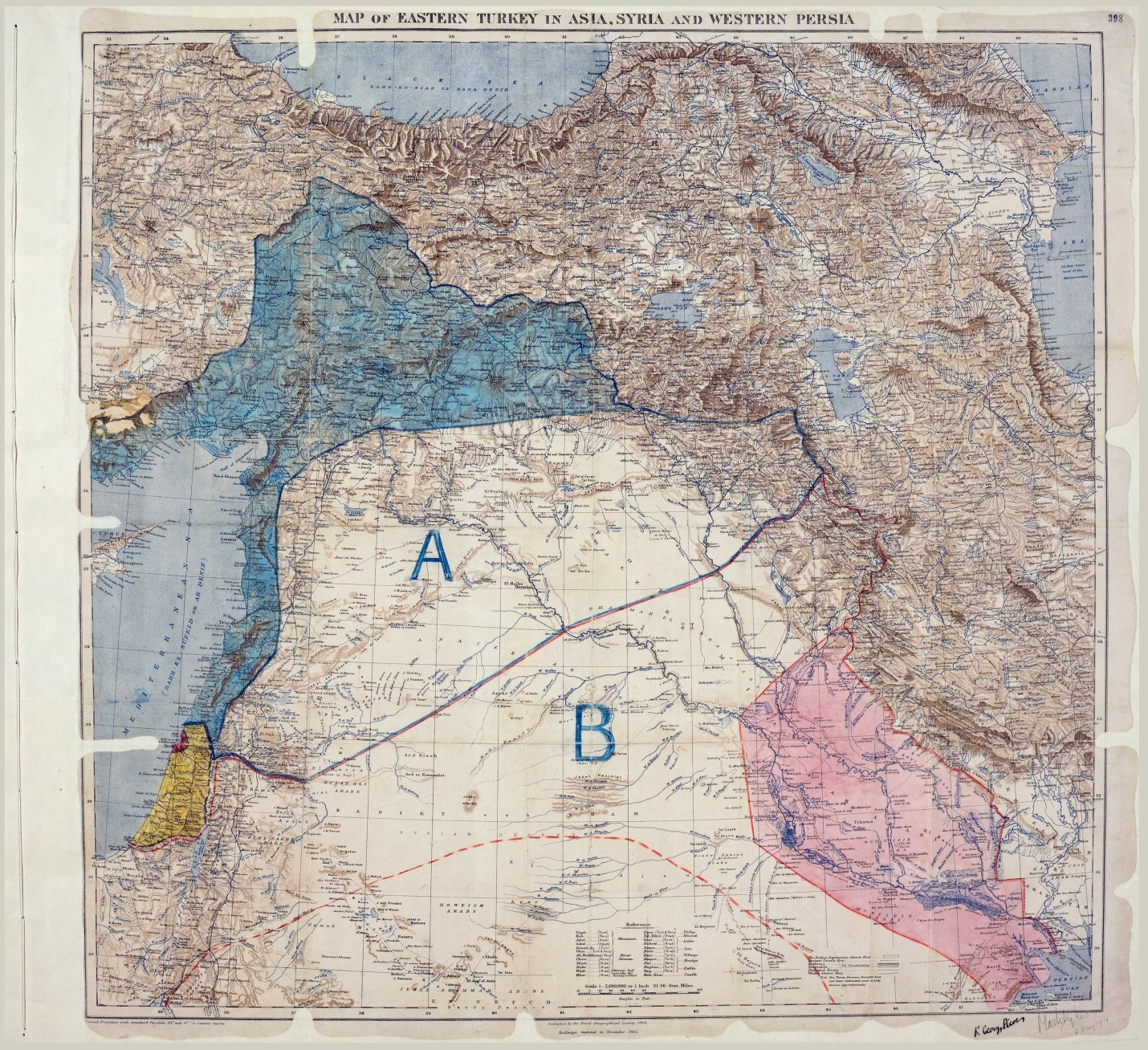 Original Sykes-Picot map