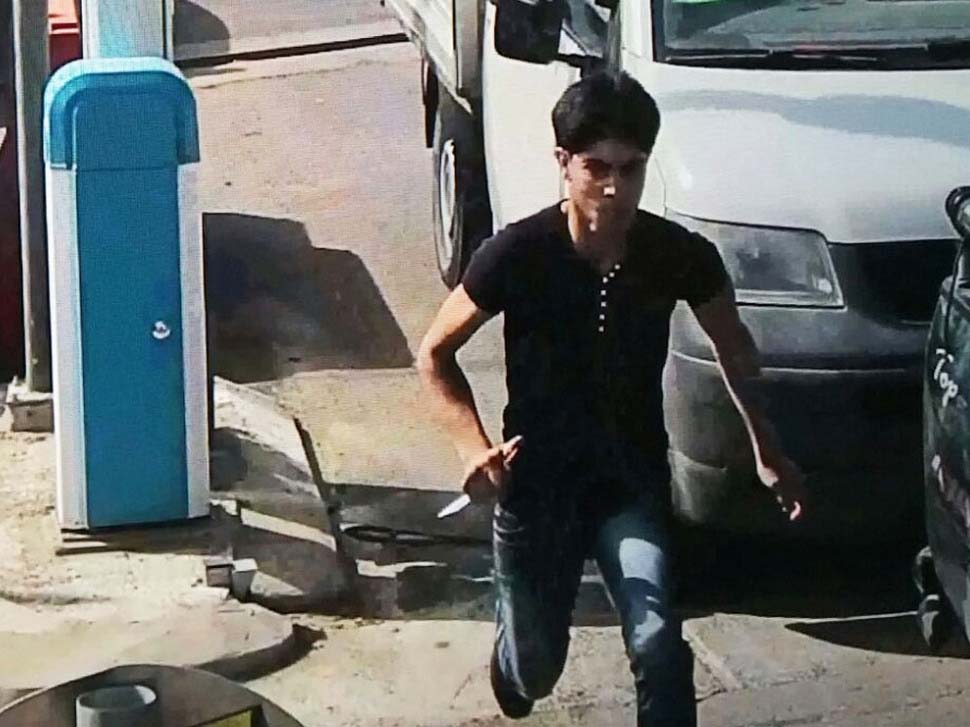 Terrorist filmed by a security camera.