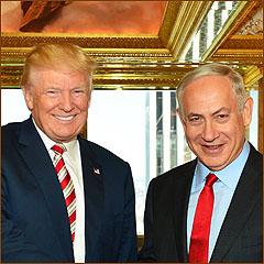 President-elect Donald Trump andIsrael's Prime Minister Benjamin Netanyahu